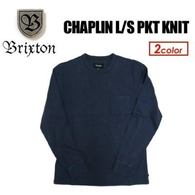 BRIXTON ブリクストン 長袖 ロンT 17sp/CHAPLIN L/S PKT KNIT