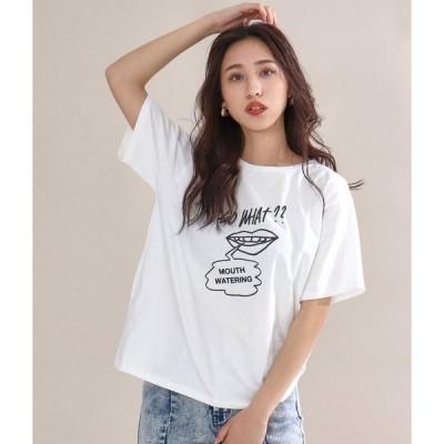 バックツイストプリントTシャツ(プリントtシャツ tシャツ 半袖tシャツ ティーシャツ ティシャツ 半袖 背中見せ バックオープン カットソー)