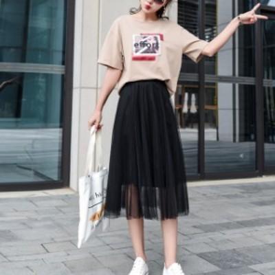 プリーツスカート ロングスカート プリーツ 韓国 ファッション スカート スカート 夏 ロングスカート 夏 スカート 春夏 夏新作スカート