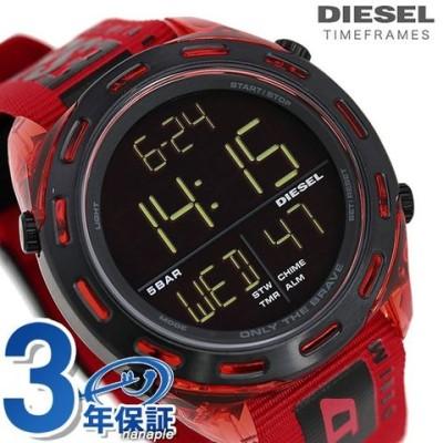 ディーゼル 時計 メンズ 腕時計 DZ1916 DIESEL クラッシャー 47.5mm ブラック×レッド