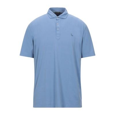 グラン サッソ GRAN SASSO ポロシャツ アジュールブルー 54 コットン 100% ポロシャツ