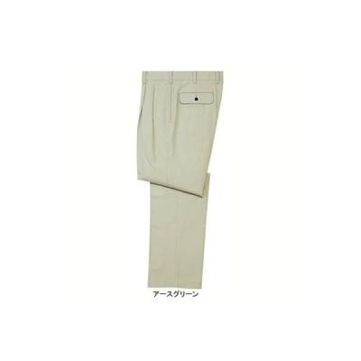 自重堂 112 ツータックパンツ W73・アースグリーン039 作業服 作業着 秋冬用 ズボン