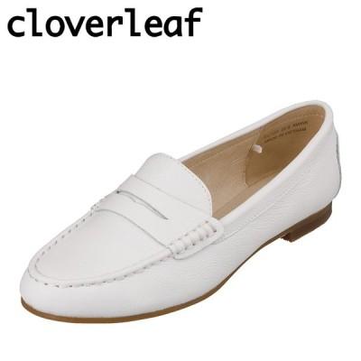 クローバーリーフ cloverleaf CL-120 レディース | ローファー | サブリナモカシン | 本革 レザー | ホワイト