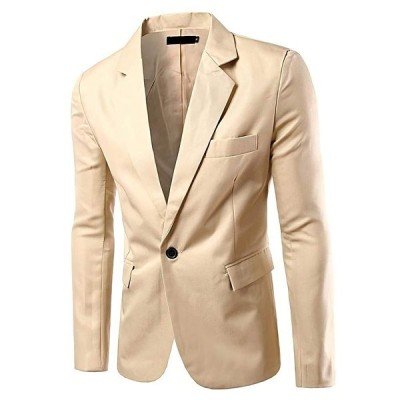 [アスペルシオ] カラフル 長袖 ジャケット メンズ フォーマル 紳士 細身 細い アウター シングル ボタン 1つボタン ジャケ オラオラ系 お兄系 うすで オールシー