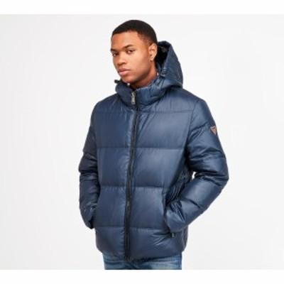 ゲス Guess メンズ ダウン・中綿ジャケット フード アウター hooded puffer jacket