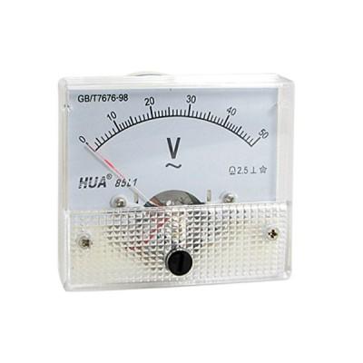 uxcell 電圧メーター アナログ電圧計 デジタル電圧計 インストール部品 ホワイト AC 0-50V