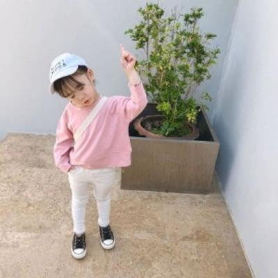 子ども服 トップス 長袖 人気 無地 円襟 着やせ 韓国 通学 純綿 可愛い 春 弾力