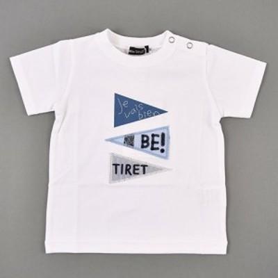 60%OFF 【 BeBe / ベベ 】 天竺フラッグパッチTシャツ 子供服 BeBe bebe ベベ アウトレット 男の子 80 90 100