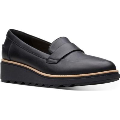クラークス Clarks レディース ローファー・オックスフォード シューズ・靴 collection sharon gracie platform loafers Black Smooth Leather