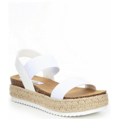 スティーブ マデン レディース スリッポン・ローファー シューズ Jaklin Platform Banded Sandals White