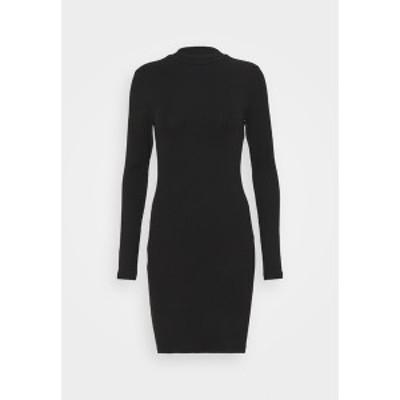 エブンアンドオッド レディース ワンピース トップス Jersey dress - black black
