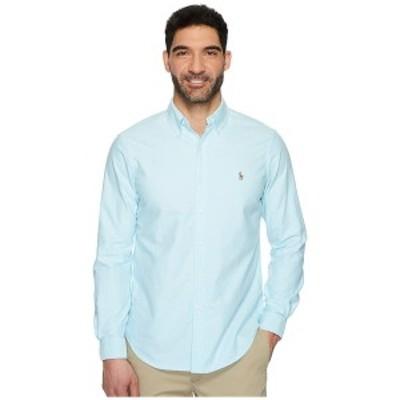 ラルフローレン メンズ シャツ トップス Standard Fit Oxford Sport Shirt Aegean Blue
