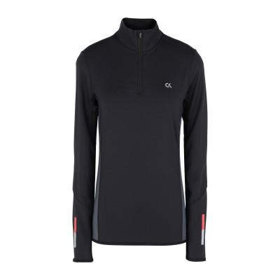 CALVIN KLEIN PERFORMANCE T シャツ ブラック M ポリエステル 79% / ポリウレタン 21% T シャツ