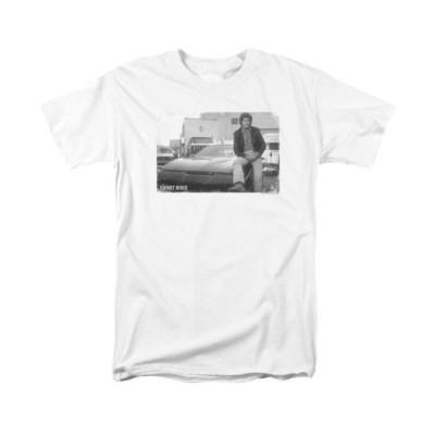 Tシャツ ナイトライダー Knight Rider David Hasselhoff Black Rider Licensed Adult T Shirt