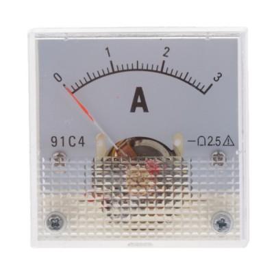 5タイプDCアナログ電流計電流計電流パネルダイアコネ電流計 - 0-3A