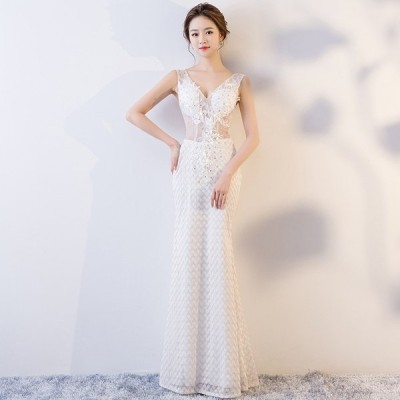 イブニングドレス ナイトクラブ キャバ セクシー パーティードレス 安い 可愛い 透け感 シースルー ロング ドレス