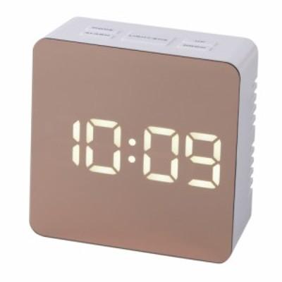 クレファー ミラークロック IAC‐5651‐WTP│時計 目覚まし時計