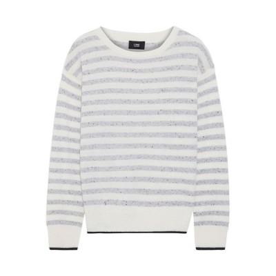 ライン LINE レディース ニット・セーター トップス striped marled cashmere sweater Light gray