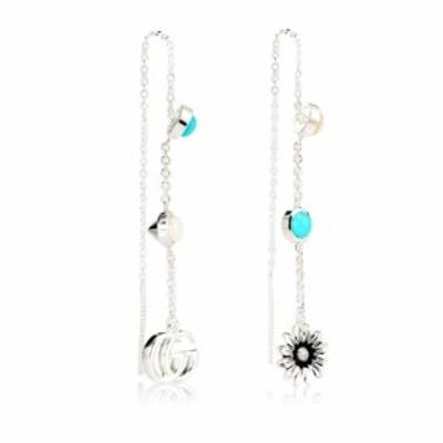 グッチ Gucci レディース イヤリング・ピアス ジュエリー・アクセサリー Double G flower sterling silver drop earrings
