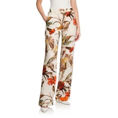 オフ-ホワイト レディース カジュアルパンツ ボトムス Floral Pajama Pants