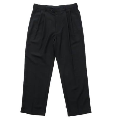 HAGGAR スラックス パンツ ツータック ブラック サイズ表記:W34L30