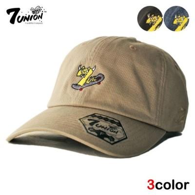 セブンユニオン 7UNION ストラップバックキャップ 帽子 メンズ レディース デニム bk nv lbw
