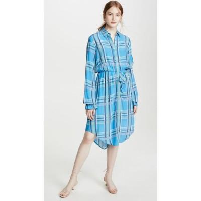 プリーン バイ ソーントン ブルガッジ Preen by Thornton Bregazzi レディース ワンピース シャツワンピース Preen Line Primrose Shirt Dress Blue Check