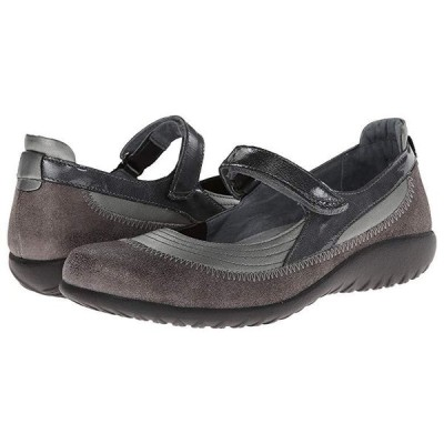 Naot Kirei レディース フラットシューズ Sterling Leather/Gray Shimmer Leather/Gray Patent Leather