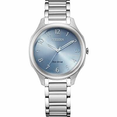 Citizen Eco-Drive Casual Quartz Womens Watch Stainless Steel Silver-Tone Model EM0750-50L
