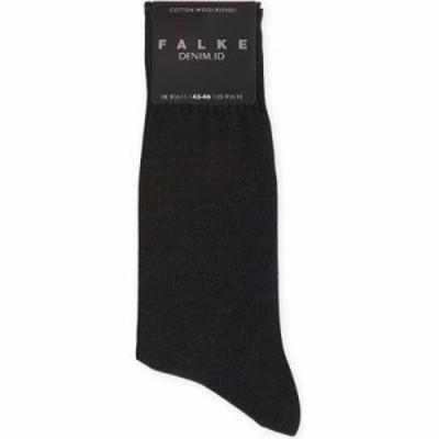 ファルケ ソックス denim.id cotton socks Dark grey mel
