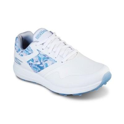 スケッチャーズ スニーカー シューズ レディース Women's GO GOLF Max - Draw Golf Sneakers from Finish Line White, Blue