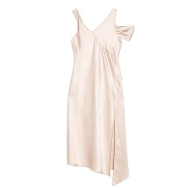 トップショップ TOPSHOP 7分丈ワンピース・ドレス ライトピンク 10 ポリエステル 100% 7分丈ワンピース・ドレス