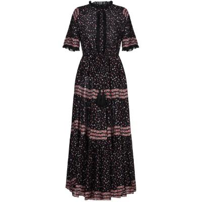FREE PEOPLE ロングワンピース&ドレス ブラック M レーヨン 100% ロングワンピース&ドレス