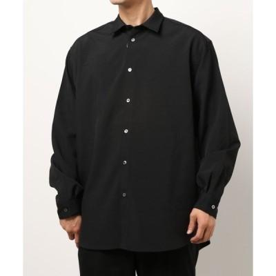 シャツ ブラウス 404error/フォーオーフォーエラー/ロゴ刺繍高密度ブロードシャツ