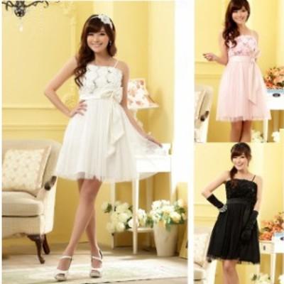 ミニドレス 結婚式 パーティードレス 二次会 ミニ ドレス 膝丈 ワンピース 大きいサイズ ノースリーブ 袖なし ブラックドレス