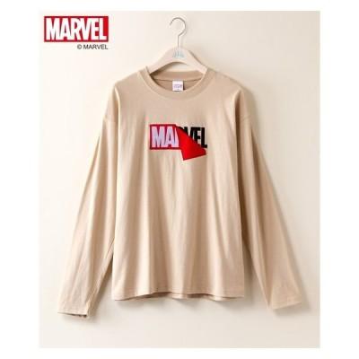 Tシャツ カットソー 大きいサイズ レディース マーベル 天竺 長袖 プルオーバー LL/3L ニッセン