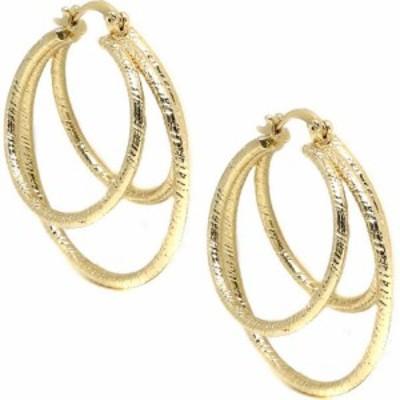 エティカ ETTIKA レディース イヤリング・ピアス フープピアス ジュエリー・アクセサリー Cage Hoop Earrings Gold