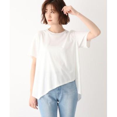 【ジェット】 ●コットンイレギュラーヘムデザインTシャツ レディース ホワイト 04(M) JET