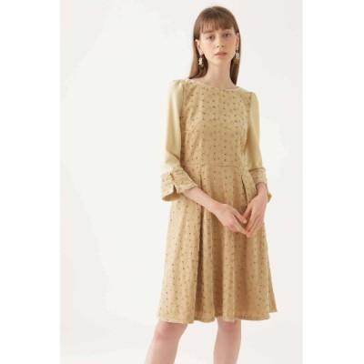 JILLSTUART (ジルスチュアート) レディース 《JILLSTUART White》メアリーべロア刺繍ドレス BEIGE(040) 4