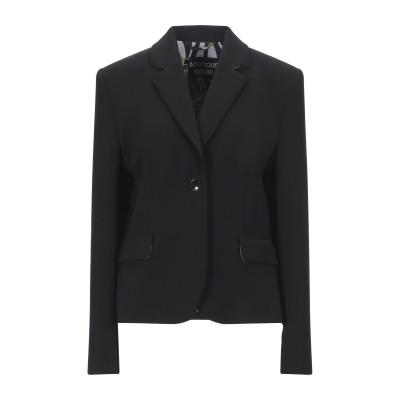 BOUTIQUE MOSCHINO テーラードジャケット ブラック 44 ポリエステル 90% / ポリウレタン 10% テーラードジャケット