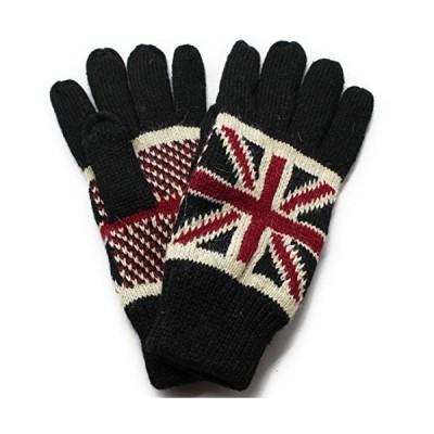 手袋 ユニオンジャック イングランド フリース メンズ レディース ブラック