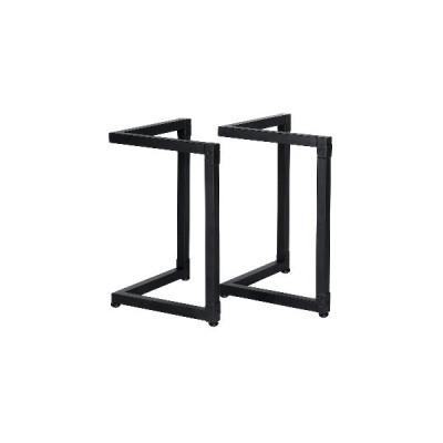 2個の金属製テーブル脚産業用コンピューターラップトップデスクコーヒーダイニングテーブルスチールベースフィートホームオフィス家具アクセサリー