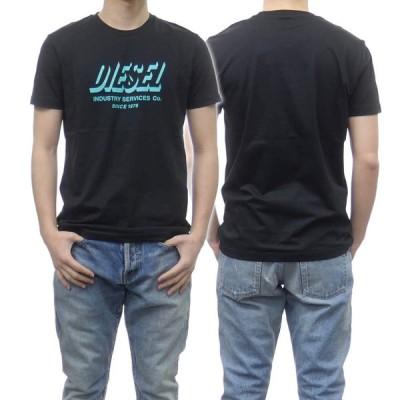 DIESEL ディーゼル メンズクルーネックTシャツ T-DIEGOS-A5 / A01849 0GRAM ブラック /2021春夏新作