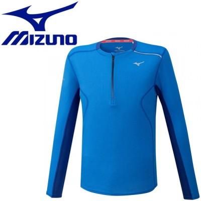 ゆうパケット配送 ミズノ MIZUNO ランニング ドライエアロフローハーフジップシャツ メンズ J2MA052026