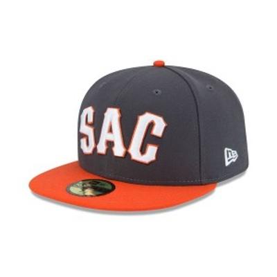 ニューエラ メンズ 帽子 アクセサリー Sacramento River Cats AC 59FIFTY Fitted Cap Gray/Orange