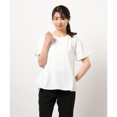tシャツ Tシャツ バックフリル切替Tシャツ