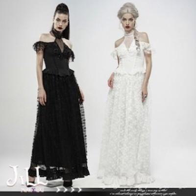 ゴスロリファッション ワンピース 大きいサイズ 服 v系 ファッション レディース PUNK RAVE 【T001-HALN0935】