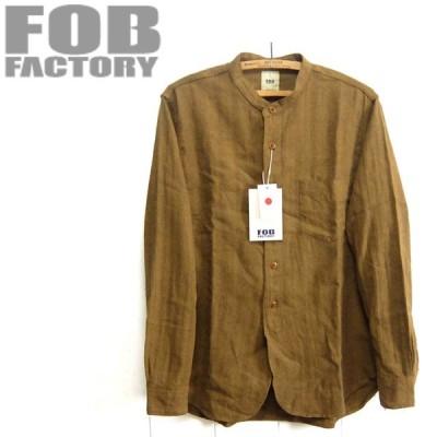 FOBファクトリー [F3454]リネンコットン バンドカラー シャツ BAND COLLAR SHIRT