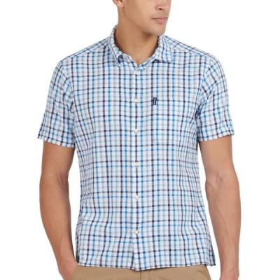 バーブァー メンズ シャツ トップス Men's Tattersall Check Seersucker Shirt