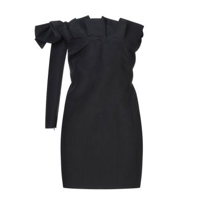 CARMEN MARCH ミニワンピース&ドレス ブラック 38 レーヨン 61% / 麻 39% ミニワンピース&ドレス